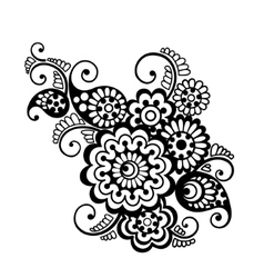 Floral pattern element indian ornament vector