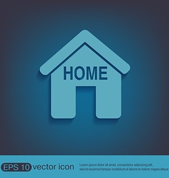 House icon home sign vector