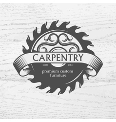 Carpenter design element in vintage style vector