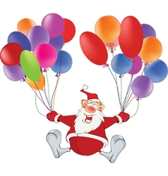 Cute santa claus and toy balloons vector