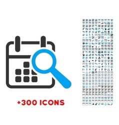 Find date icon vector