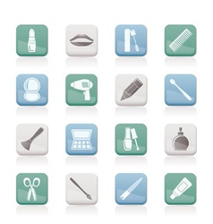 cosmetic and hairdressing icons vector image