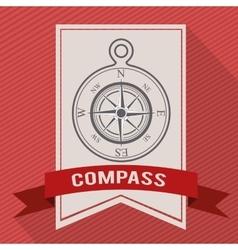 Compass emblem design vector