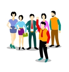 Group people flat and business team vector