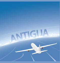 Antigua flight destination vector