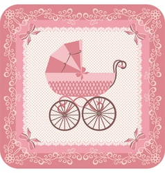 Baby girl carriage vector