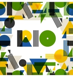 Background with Rio in abstract geometric style vector image vector image