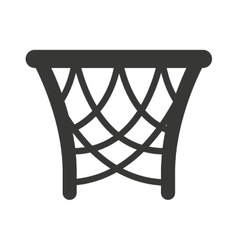 Basket basketball sport isolated icon vector