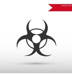 Biohazard icon danger concept vector