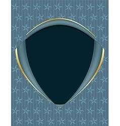 Blue gold frame background vector