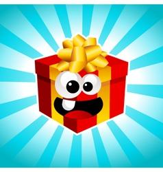 Cartoon Gift Box vector image vector image