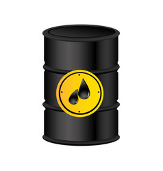 color silhouette with petroleum barrel vector image
