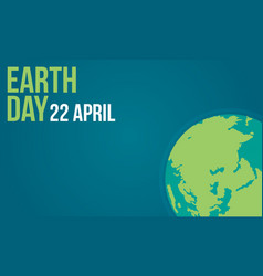 Earth day flat collection vector