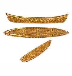 ethnic canoe vector image