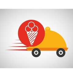fast delivery food ice cream icon vector image