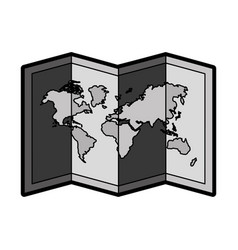 Flat world map cartoon vector