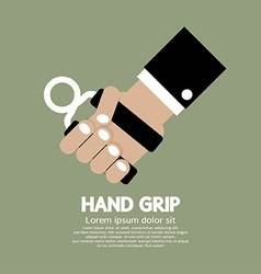 Hand grip graphic vector