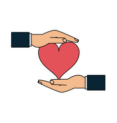 hands holding heart icon image vector image vector image