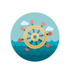 Helm flat icon vector