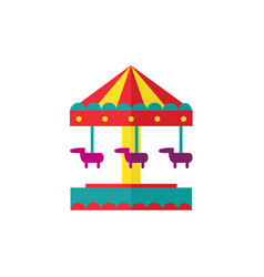 horse carousel amusement park objects vector image vector image