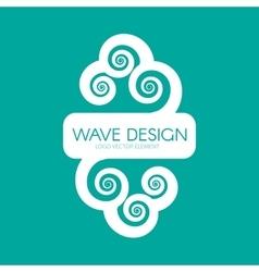 Logo design wave element vector