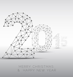 Low poly Happy New Year 2015 card vector image vector image