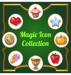 Magic icons set of different images vector image vector image