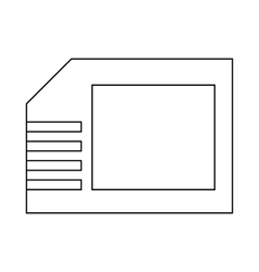 Micro sd card icon outline style vector