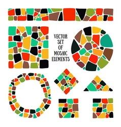 Mosaic design elements vector image