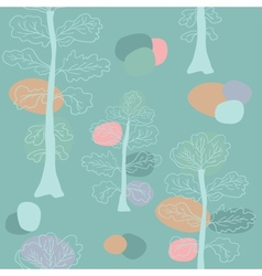 Pastel trees seamless pattern vector image