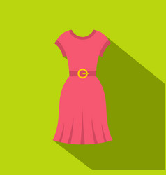 pink dress icon flat style vector image vector image