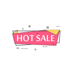 Retail speech bubble with hot sale phrase vector