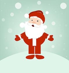Santa on winter snow vector