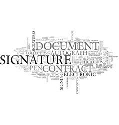 Signature word cloud concept vector