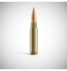 Single bullet cartridge for rifle or ak 47 vector