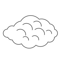 Small cloud icon outline style vector