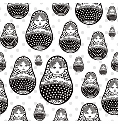 Russian retro matryoshka doll vector