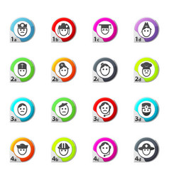 Icons set occupation vector