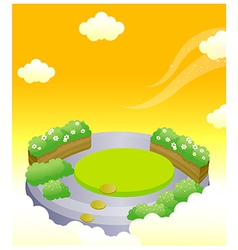 Formal garden in sky vector image
