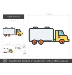 Fuel truck line icon vector