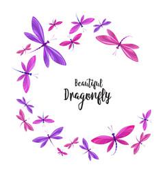 Dragonflies in flight vector