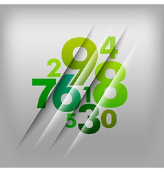 Numbers green vector