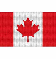 Knitted canadian flag vector