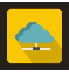 Cloud icon in flat style vector