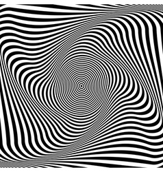 Abstract op art background vector