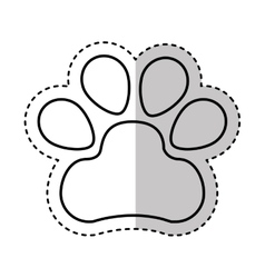 Animal footprint isolated icon vector