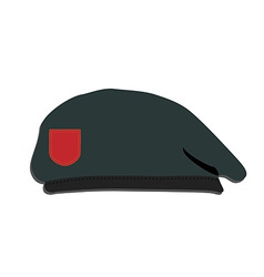 Army beret vector