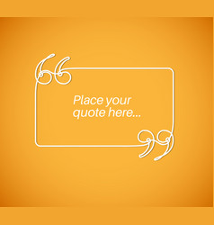 Blank quote template vector