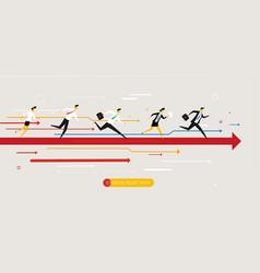Businessmans runs forward to success vector