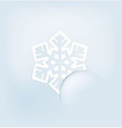 Christmas with snoflakes vector
